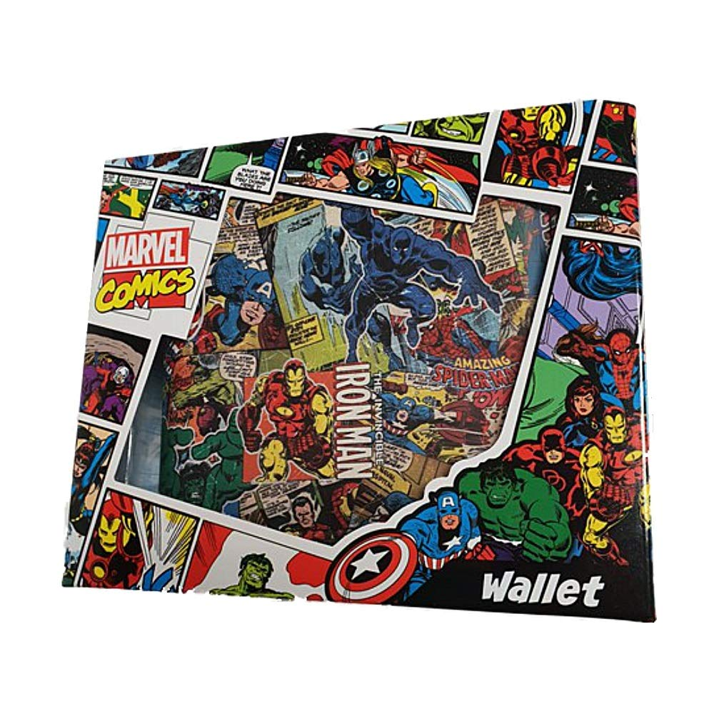 Amazon.com: Marvel Comics - Cartera plegable con diseño ...