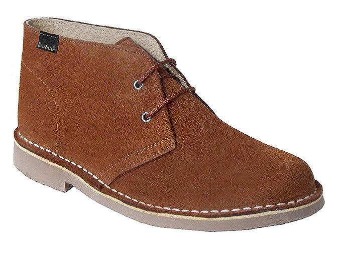f4331ee4748 Botines de Piel de Serraje con Cordones en Color Camello. Todas Las Tallas  Disponibles.  Amazon.es  Zapatos y complementos
