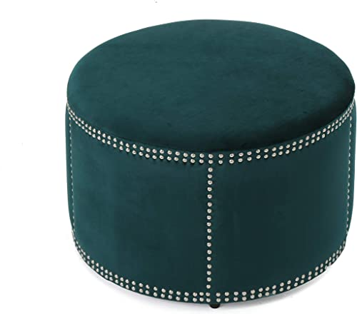 Christopher Knight Home Jaewon Studded Velvet Ottoman