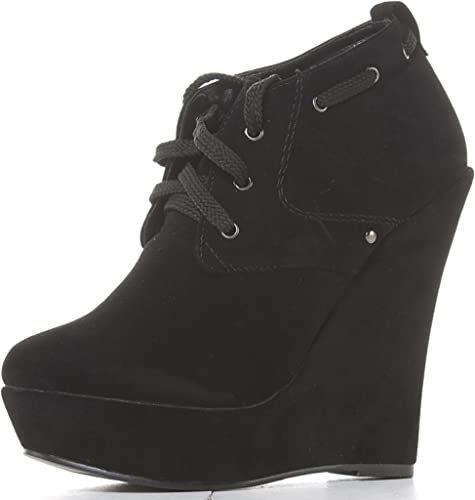 ShoeFashionista Ladies Black Wedge