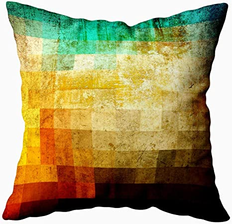 Amazon Com Mrcrypos Abstract Art Pillow Cover Colorful Plaids Background Decorative Throw Pillows Cushion Cover For Bedroom Sofa Living Room 20 X 20 Inch Home Kitchen