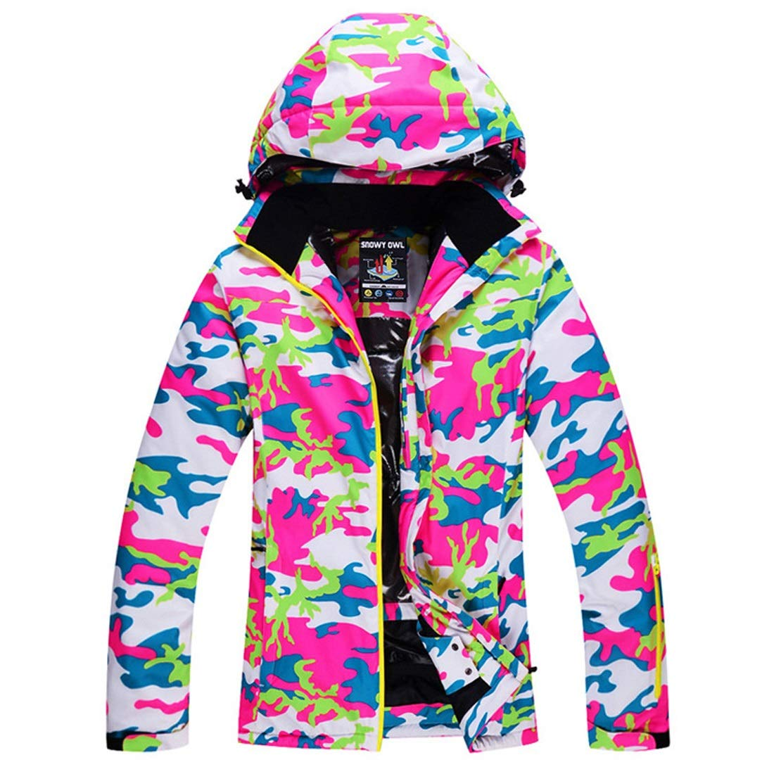 vert M FELICIOO Veste de Ski Femme Coupe-Vent pour Veste de Snowboard en Plein air