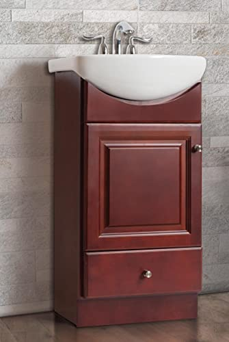 PE1612DC New Wood Petite Vanity by Fine Fixture