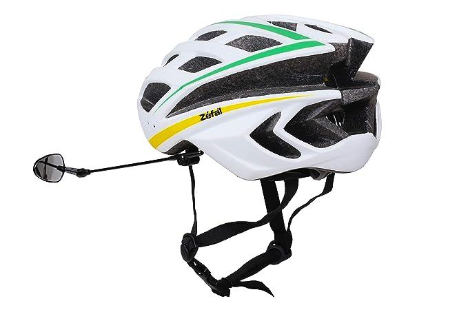 Hoodoy Rétroviseur de Casque Noir Mini Rétroviseur Vélo Rétro Auto Léger 360° Rotation Réglable Retroviseur de Casque Miroir Rearview Ajustable pour Velo Bicyclette Moto