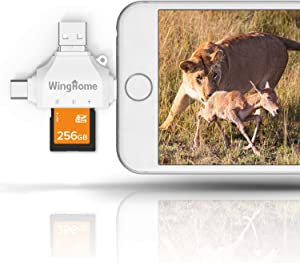 WingHome 4-in-1 SD Card Reader Compatible with Android and iOS14