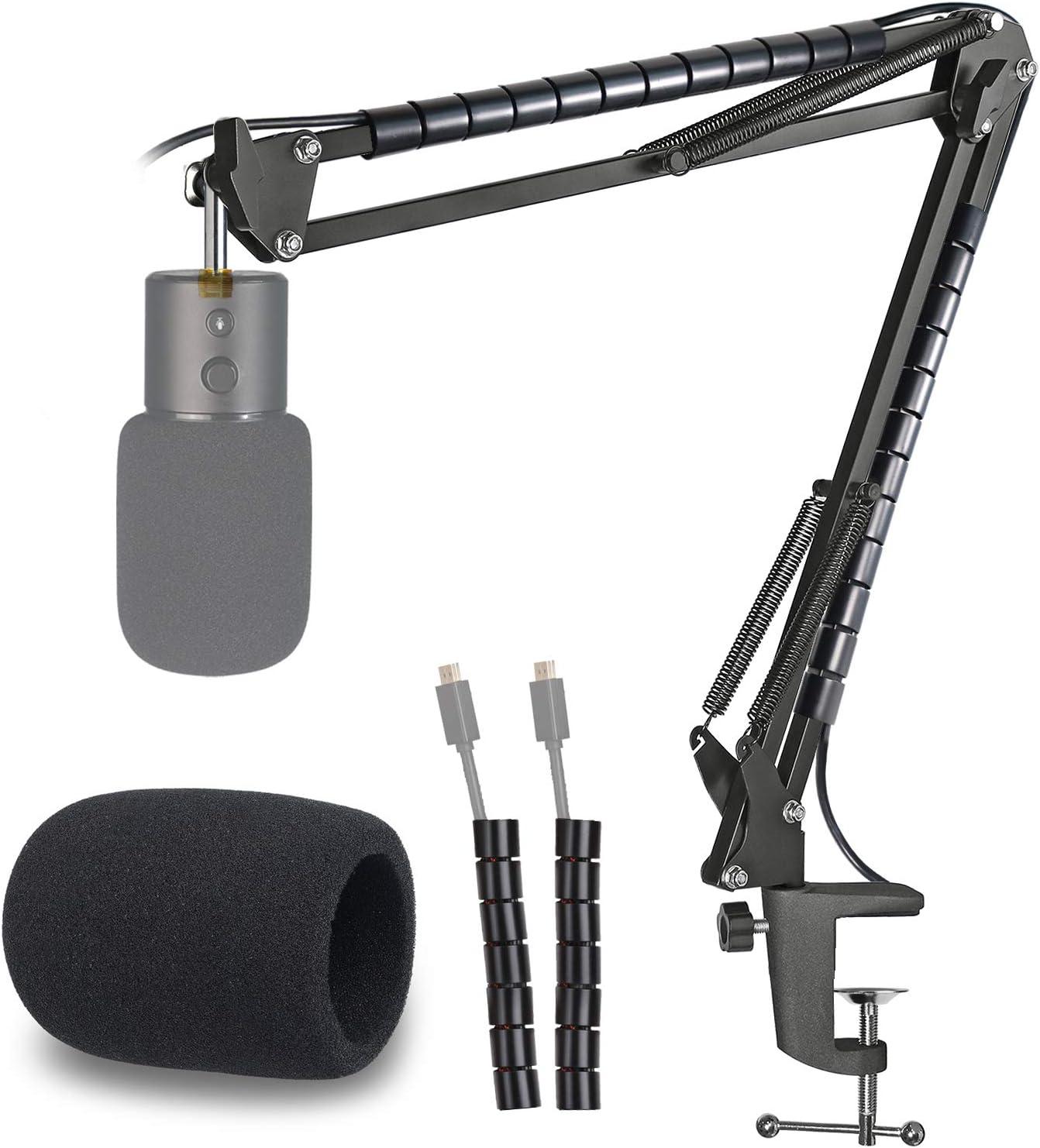 Seiren X Mikrofonständer Mit Popschutz Mikrofonarm Und Windschutz Kompatibel Mit Razer Seiren X Usb Mikrofon Von Youshares Musikinstrumente