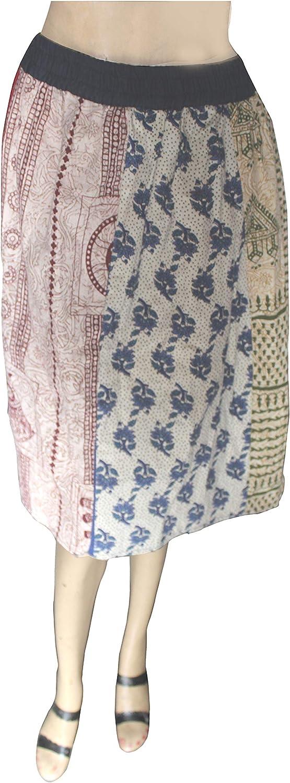 Lakkar Haveli - Mini Falda de retales de algodón Estilo Hippie ...