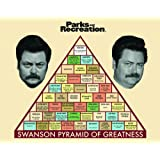 Parks and Recreation Ron Swanson Pyramid Workplace Comedy TV Television Show Framed Poster Print Unframed 11x14