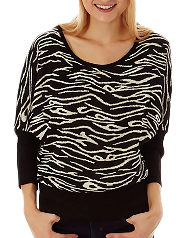 Jon & Anna Women's Dolman Sleeve Melange Print Sweater