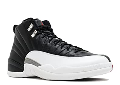 52340845cab Jordan Air 12 Retro Black Varsity Red White Mens Basketball Shoes 130690-001
