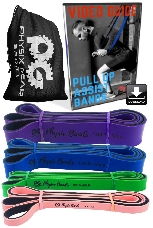 お見舞い Physix Gear 110lbs-120lbs Sport モビリティ&強度を向上させる補助プルアップ、筋肉の調色、脚尻の筋肉クロスフィット理学療法ストレッチピラティス 1 Blue&ヨガのためのバンドにヘビーデューティー抵抗帯を支援するプルアップ B074SBH672 1 Pack - Large Power Bands (c) - Blue 110lbs-120lbs resistance 1 Pack - Large Power Bands (c) - Blue 110lbs-120lbs resistance, 大鹿村:5194a2d3 --- arianechie.dominiotemporario.com