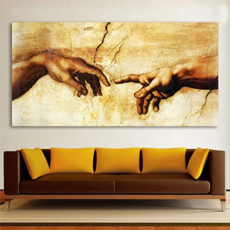 Pintura clásica Lienzo Decorativo Arte Miguel ángel creación ...