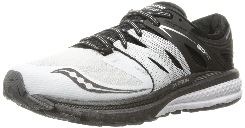 dcc181f9 Saucony Women's Zealot Iso 2 Reflex Running Shoe, White/Black/SIL, 5 ...