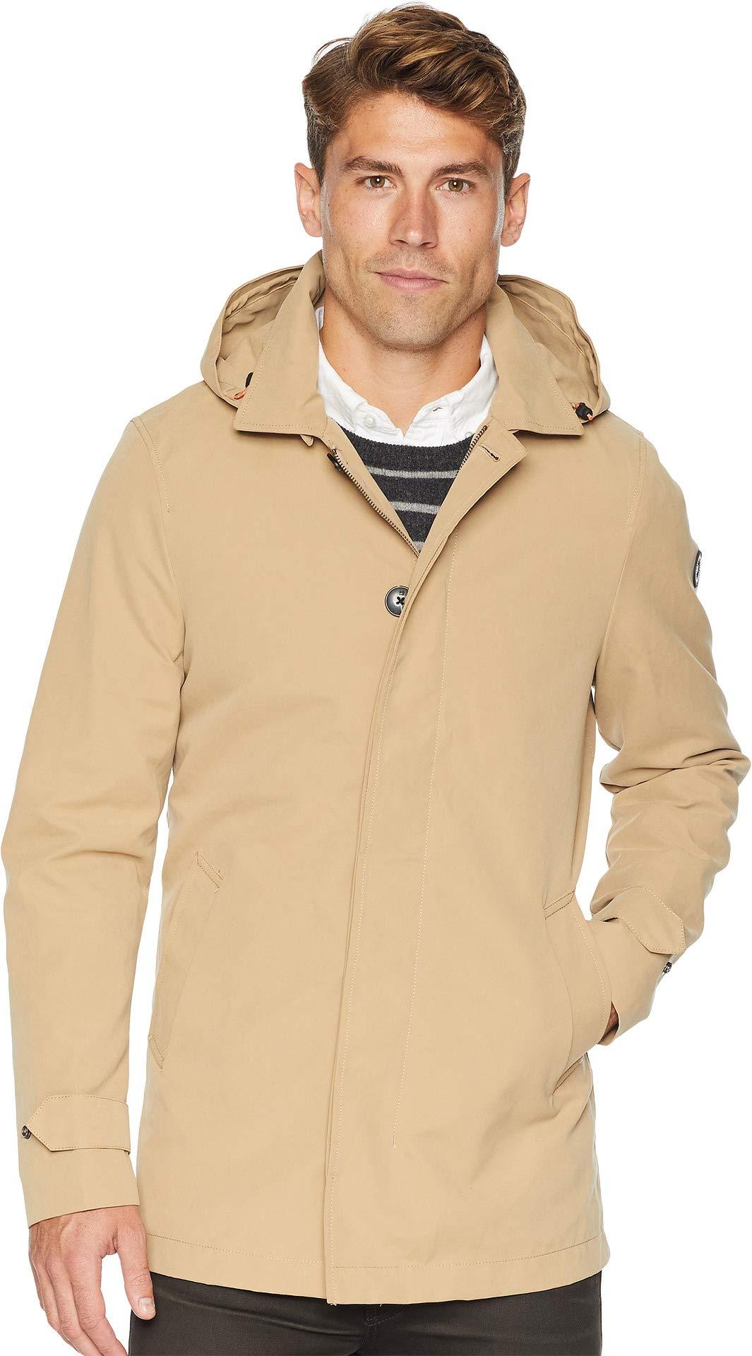 Scotch & Soda Men's Classic Parka Jacket w/Fixed Inner Body Warmer Sand Medium