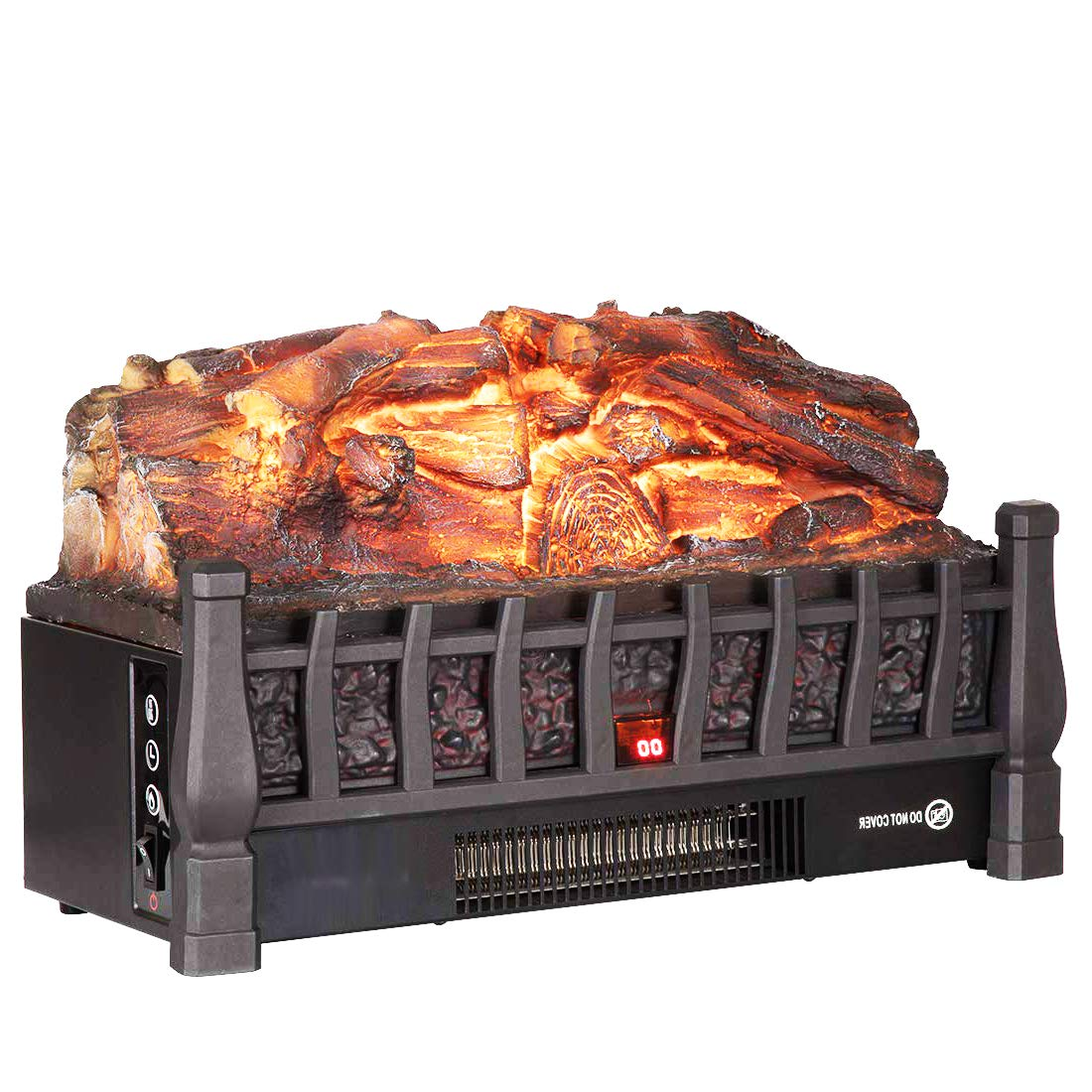 Regal Flame 20 Inch Electric Fireplace Log Realistic Ember Bed Insert with Heater in Oak by Regal Flame