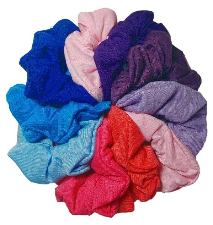 10 Scrunchies summer hair accessories purple scrunchies pink puffy scrunchies scrunchie bundle