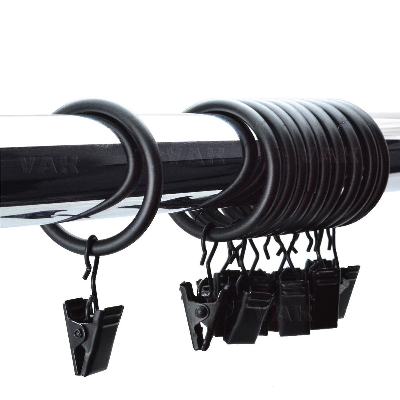 Vorhangstange Aufhängen amazon de metall vorhang ringe mit zum aufhängen vorhang