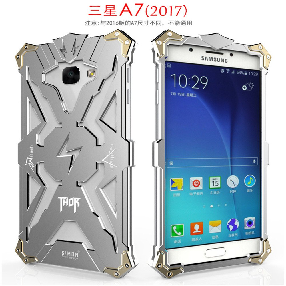 Samsung Galaxy A7 2017 Case, LWGON Aviation Aluminum Anti-scratch Strong  Protection Metal Case for Samsung Galaxy A7 2017 , Hollow Design Full  Signal