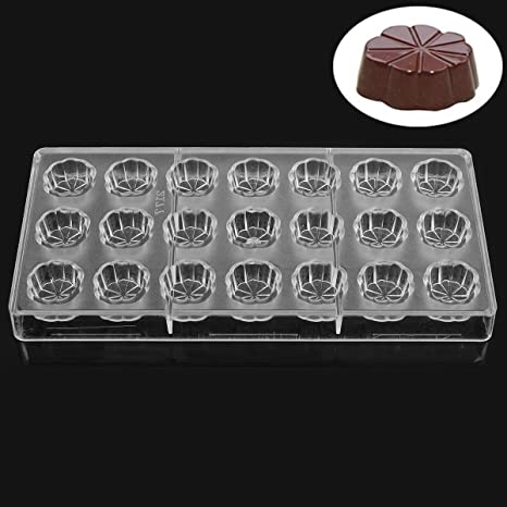 Policarbonato transparente con forma de flor Chocolate molde Jelly Candy Making molde DIY moldes para Chocolate ...