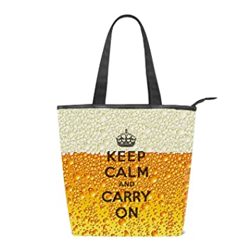 db57be5886f9 Amazon.com: Fashion Women's Multi-pocket Canvas Handbags Keep Beer ...
