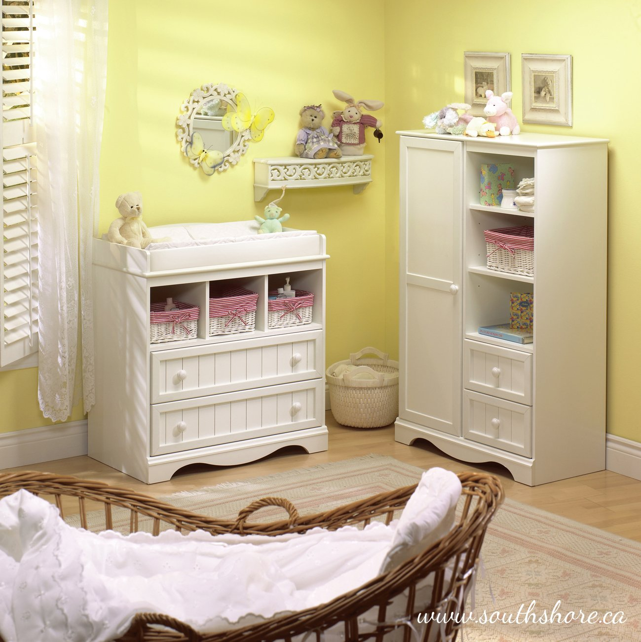 South Shore  Savannah 2-Drawer Changing Table, Pure White by South Shore (Image #6)