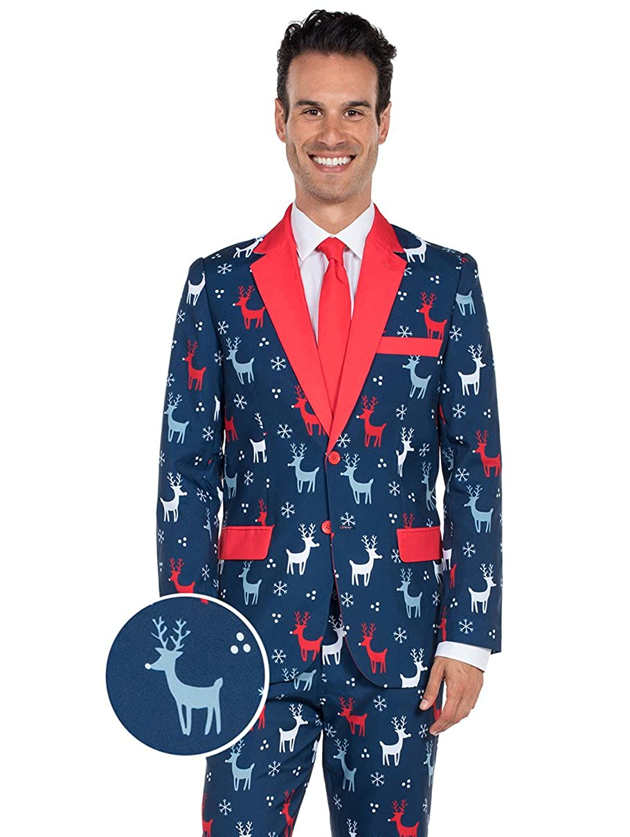 The Reindeer Gains Holiday Christmas Suit - Ugly Christmas Sweater Party Suit TE-CSUIT11