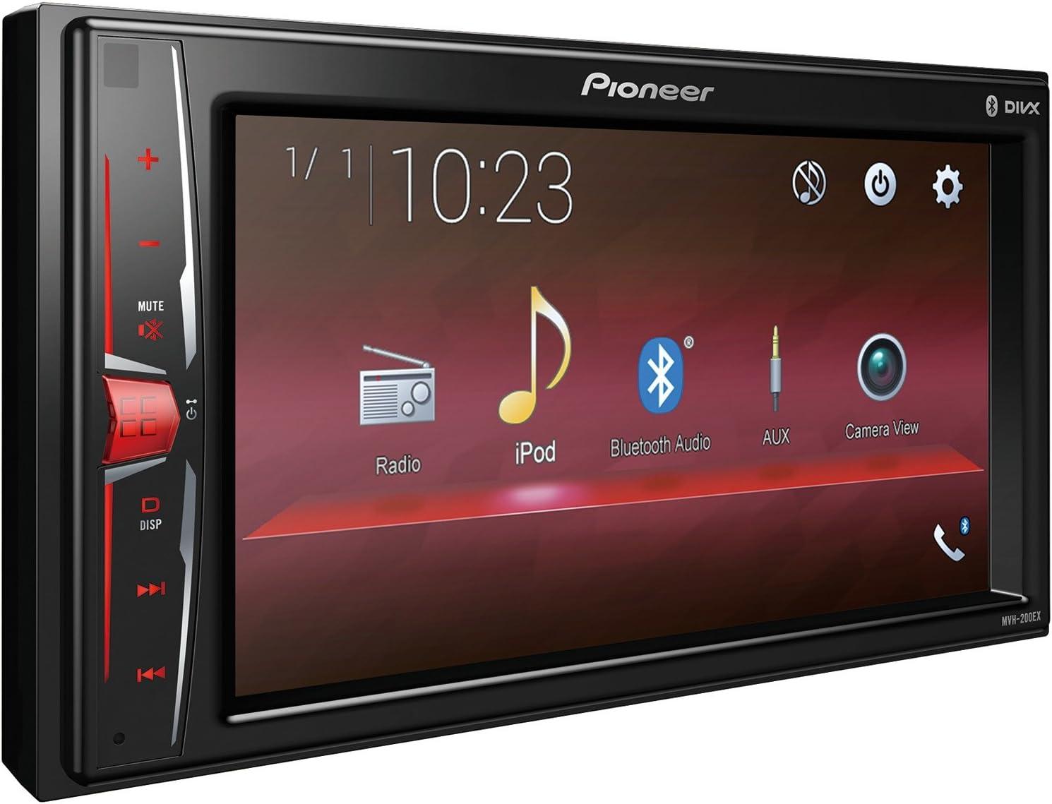 Pioneer MVH-210EX Car Stereo Radio Media Receiver Dash Install Mount Kit