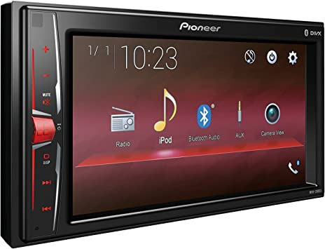 Renewed Pioneer MVH-210EX 6.2 Double DIN in-Dash Multimedia A//V Receiver with Bluetooth