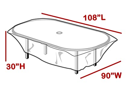 LAMINET Outdoor Furniture Covers (Clear Cover, Rectangular Table)