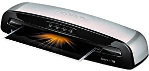 Fellowes 5736601 Laminator Saturn3i 125, 12.5 inch, Rapid 1 Minute Warm-up Laminating Machine, with Laminating Pouches Kit