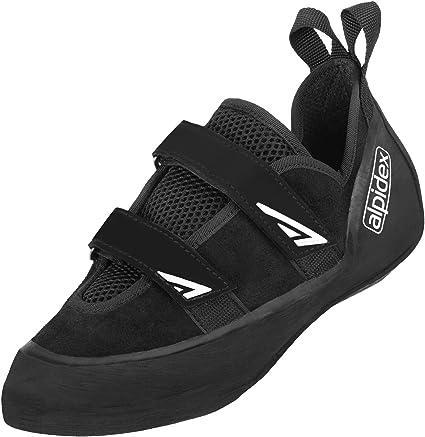ALPIDEX Chaussure d'escalade en Cuir avec Velcro