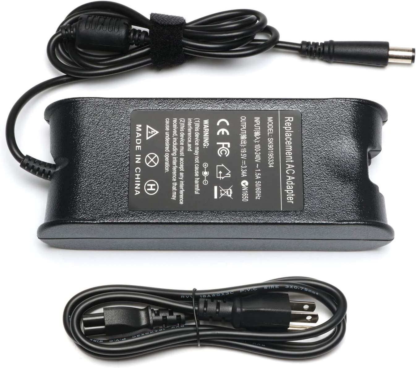 19.5V 3.25A AC Adapter fit for Dell Latitude E5520 E6440 E6430 E6410 E6320 E6410 E7270 E7450 E7440 E7470 7490 7480 6320 6420 5900 5590 5480 5400 5500 3350 3340 1450 ES440