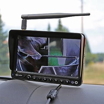 Carmedien CM-FRFS2 Radio cámara de marcha atrás, Kit demara para remolque de caballos