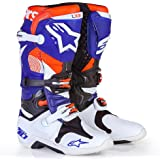 Alpinestars Tech 10 INDY Men's Off-Road Motorcycle Boots - White/Blue/Orange / 10