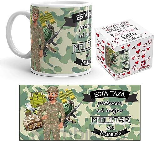 Kembilove Taza de Café del Mejor Militar del Mundo – Taza de Desayuno para la Oficina – Taza
