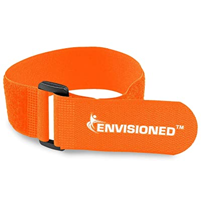 "Reusable Cinch Straps 2"" x 72"" - 2 Pack - Hook and Loop Straps (Neon Orange): Industrial & Scientific"