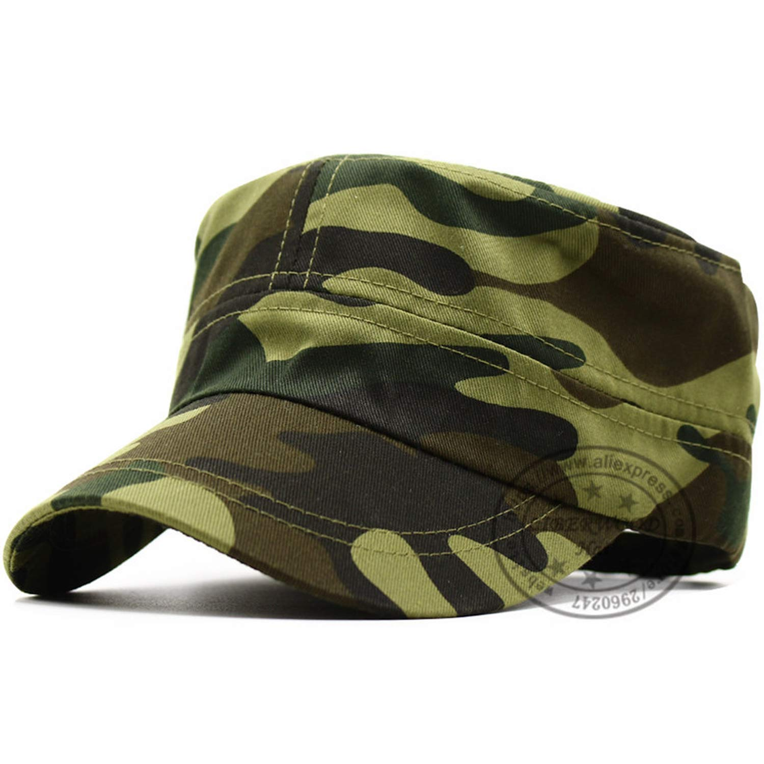 New Patrol Castro Camo Cap Casquette Blue Camouflage Hats Men Radar Cap Army Top Cap Hunting Cadet Hats at Amazon Womens Clothing store: