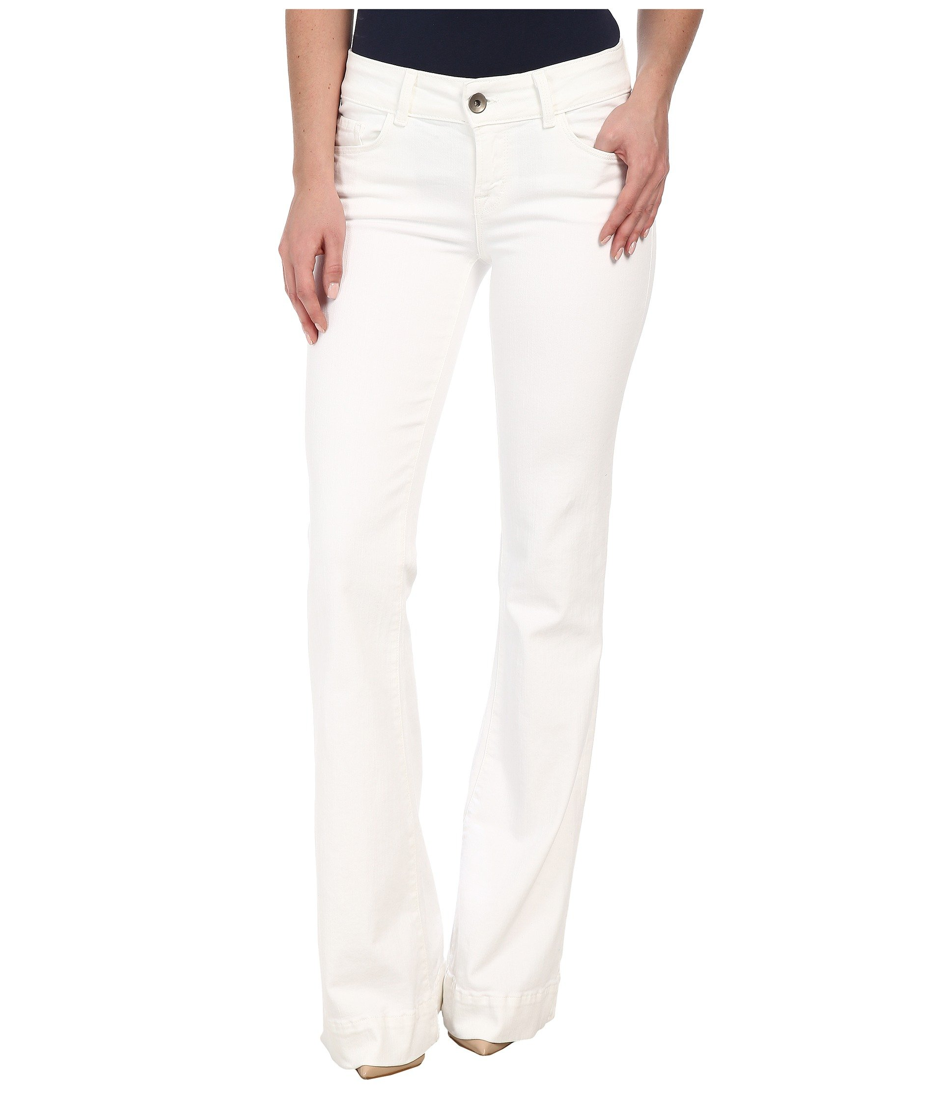 J Brand Women's Love Story Flare Jeans, Blanc, 27