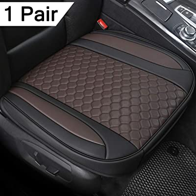 Black Panther 1 Pair Luxury PU Leather Car Seat Covesr for Front Seats (Bottom), Compatible with 90% Vehicles - Mixed Chocolate (21.26×20.86 Inches): Automotive