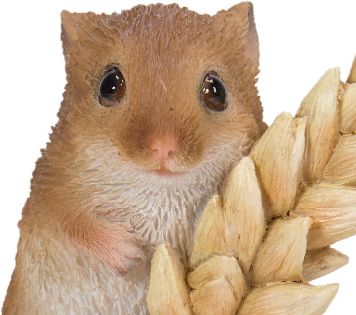 sehr detailliert NF-DM07-F Deko-Maus auf Weizen