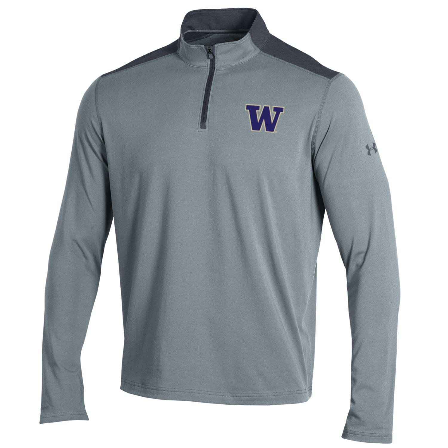 NCAAメンズunder armour Chargedコットン軽量1 / 4 Zip B0757HR999 Medium|True Gray|Washington Huskies True Gray Medium