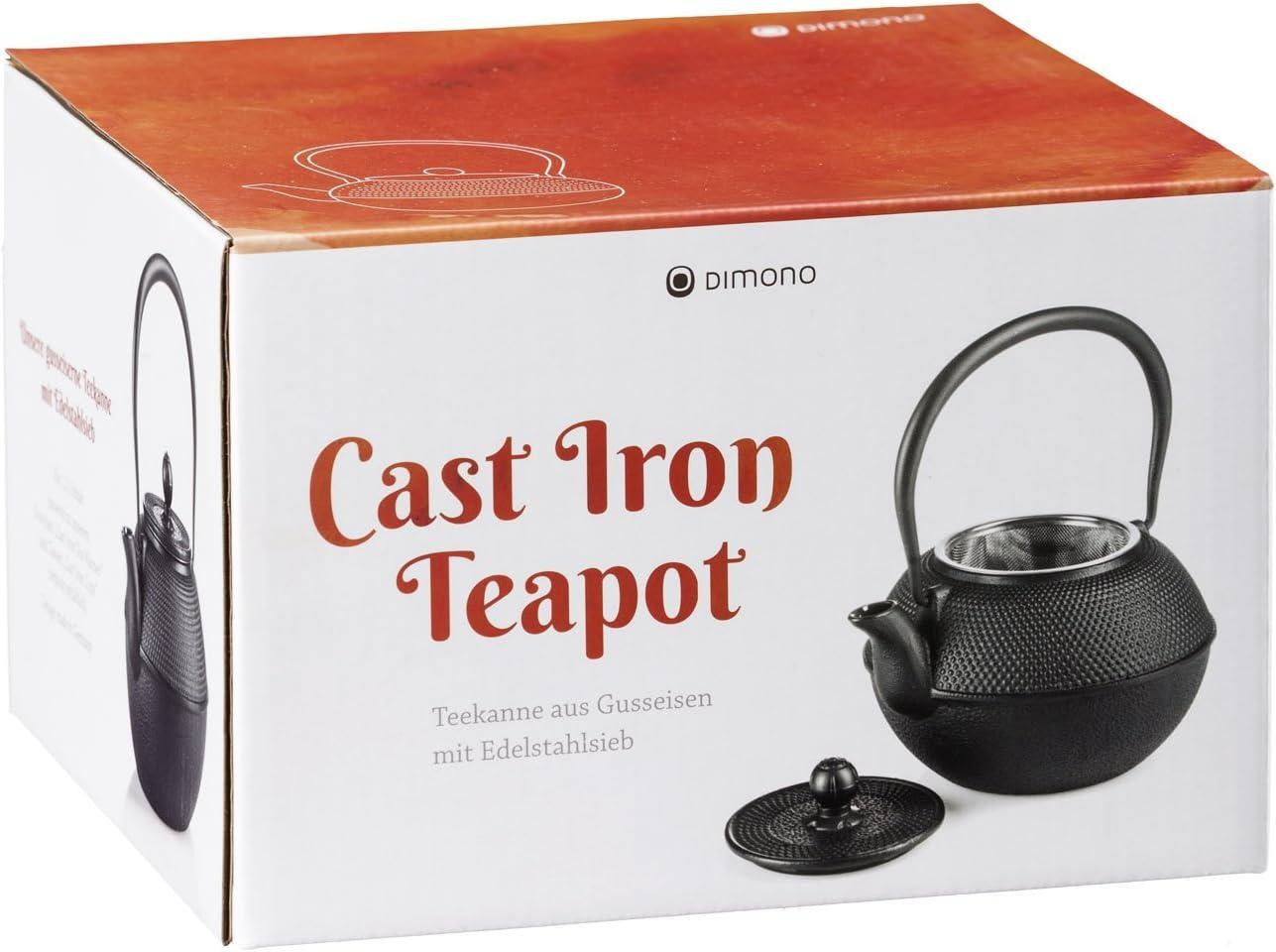 Teekanne 1300ml hierro fundido negro Tetera de hierro fundido Dimono