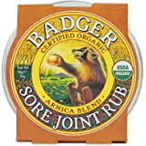 Badger - Sore Joint Rub, Arnica & Black Pepper, Organic Sore Joint Rub, Balm for Sore Joints, Warming Balm, Joint Relief…