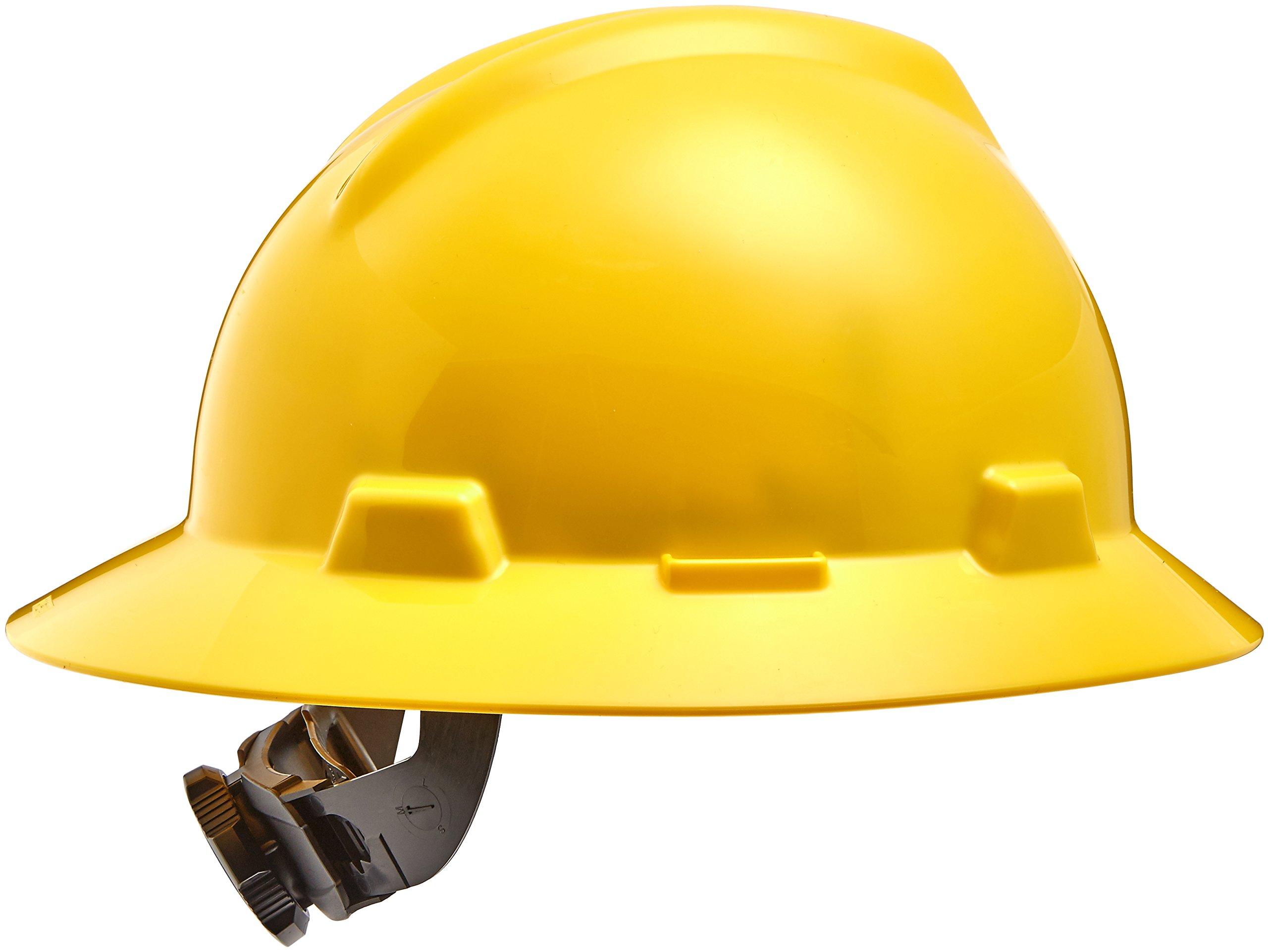 Safety Works 10012177 Full Brim Hard Hat, Yellow
