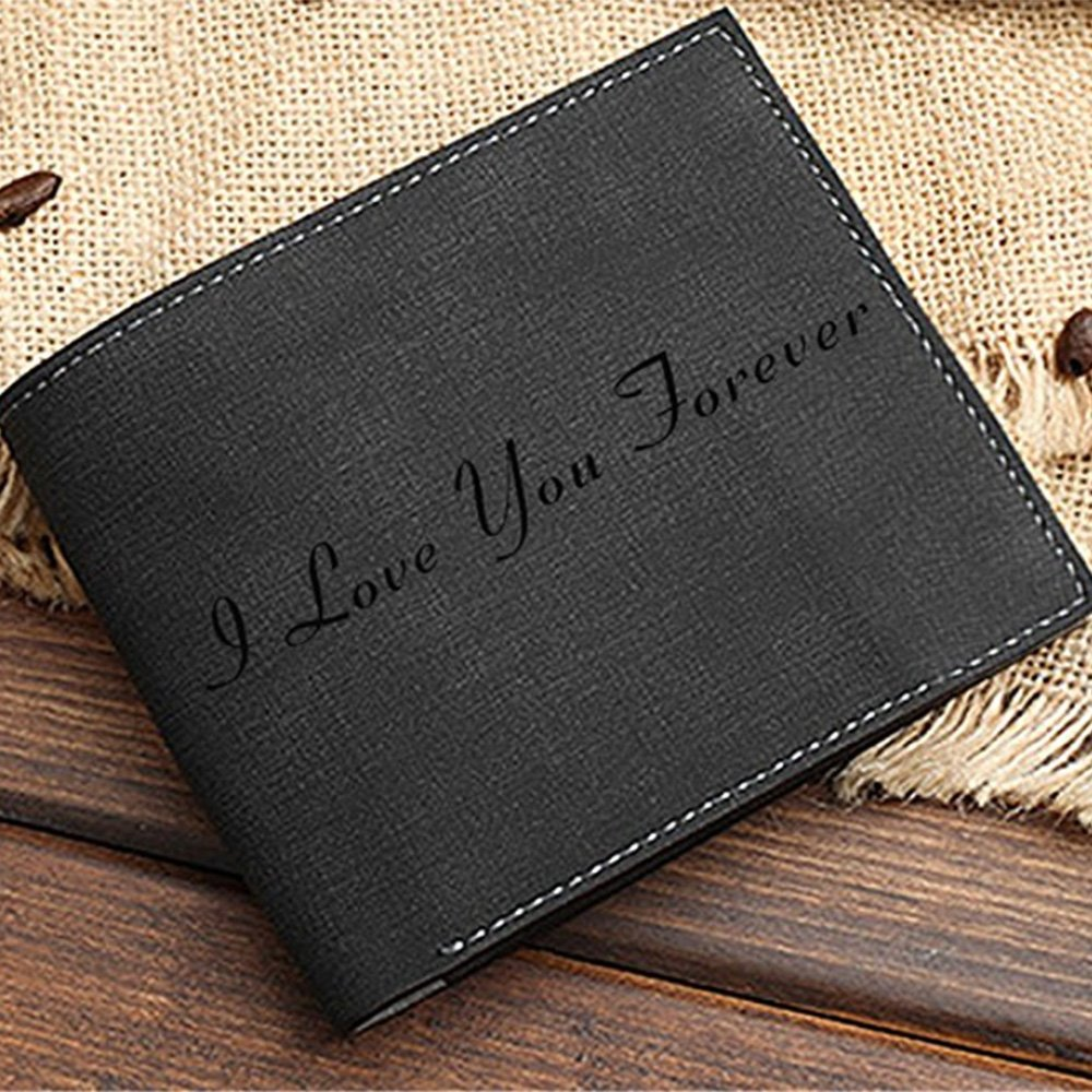 Personalized Mens Photo Wallet Custom Picture Leather Wallet -A Perfect Personalized Fathers Day Gift for Dad at Amazon Mens Clothing store: