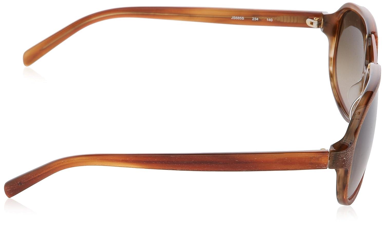 Jil Sander JS685S Oval Sonnenbrille, 234 Havana Tortoise