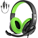 BlueFire 3.5mm Bass Stereo Over-Ear Gaming Headphone PS4 Gaming Headset with Microphone and Volume Control Compatible with PS