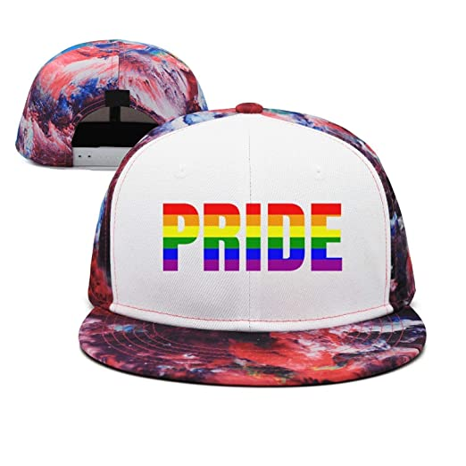 474a87830fe Image Unavailable. Image not available for. Color  LGBT Gay Lesbian Pride  Baseball Hat Snapback Custom for Man