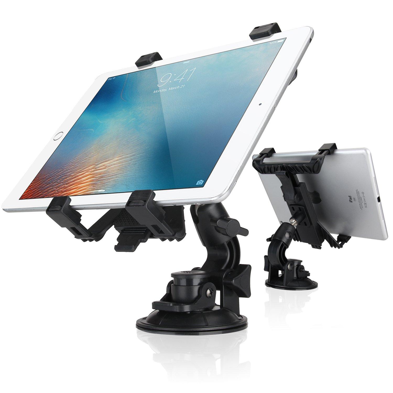 Dealgadgets Tablet Car Mount Holder Universal Mounts for Samsung Galaxy Tab 4 3/ iPad Mini/iPad Air 2 /iPad Air/iPad 4/iPad 3/ iPad 2(Revised Version - Use with All 7-10 inch tablets)