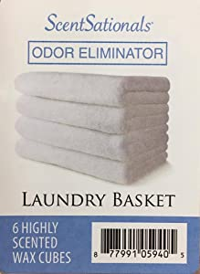 Scentsationals Laundry Basket Odor Eliminator Scented Wax Cubes, 2 OZ